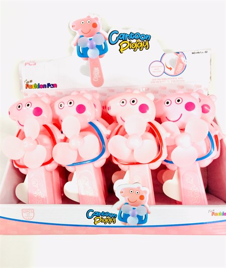Вентилятор детский ручной Свинка - фото 11336