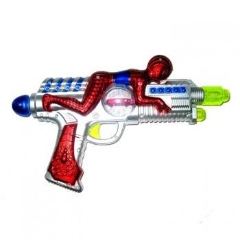 Пистолет музыкальный с супергероем - фото 11668