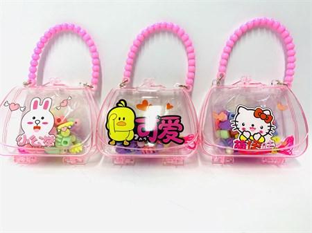 Набор бус в сумочке для изготовления браслета - фото 12718