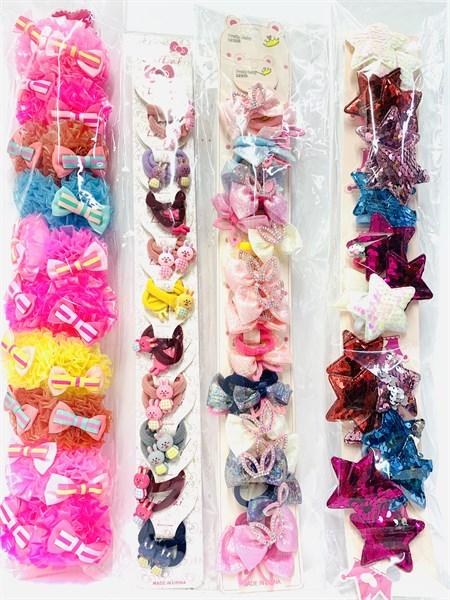 Резинки детские на блистере, в ассортименте (цена за 10 шт.) - фото 12738