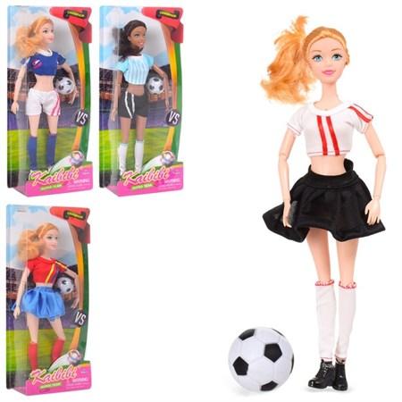 Кукла Барби футболистка с мячом светящимся, в ассортименте - фото 12991