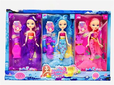 Кукла Русалка с аксессуарами, в ассортименте в упаковке 9шт. - фото 12992
