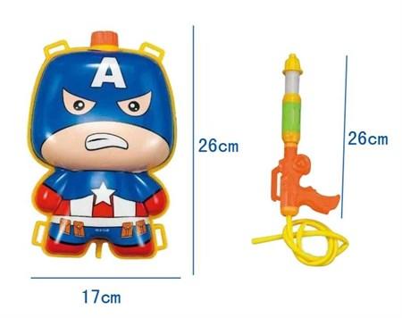 """Водный пистолет с баллоном-рюкзаком """"Капитан Америка"""" - фото 13063"""