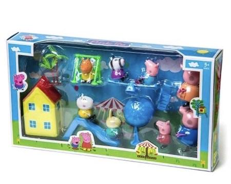 Игровой набор с домиком Свинка и друзья - фото 13082