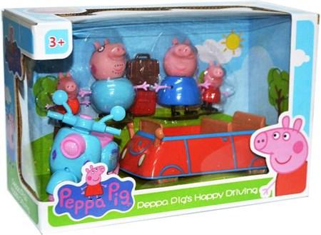 Игровой набор машинка и семья Свинки - фото 13121