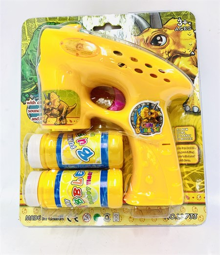 Пистолет мыльных пузырей Динозавры свет+звук - фото 13134
