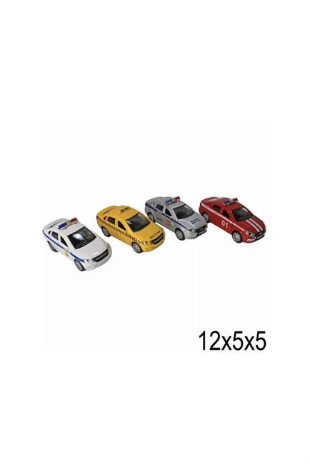 Машина металлическая Полиция, пожарная, такси, дпс в ассортименте (12 шт. в упаковке) - фото 13821