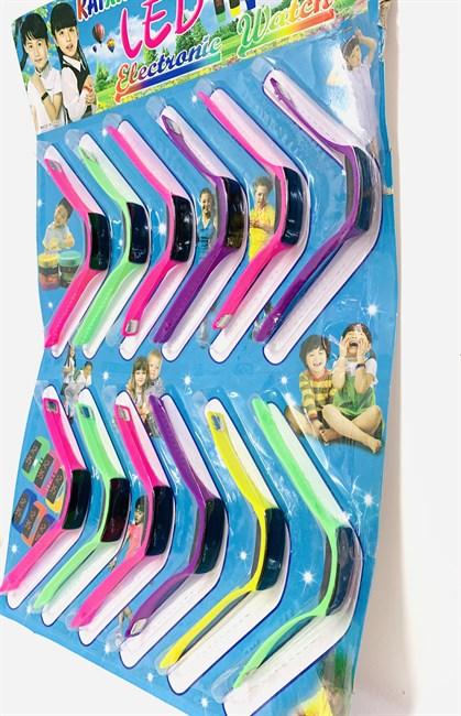 Часы на блистере цветные, в ассортименте - фото 13880