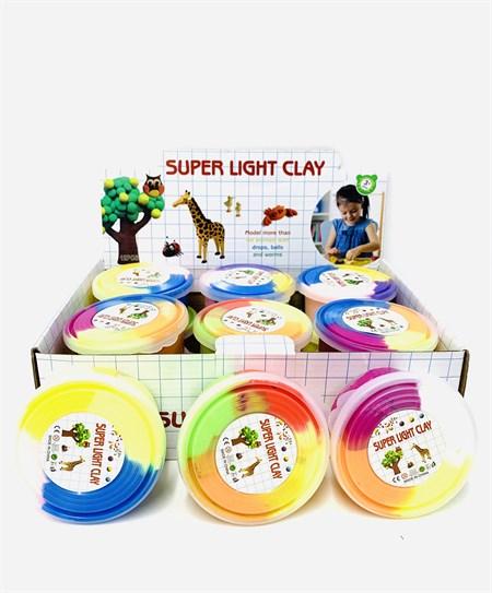 Пластилин 4 цвета в банке (в упаковке 12 шт) - фото 13918