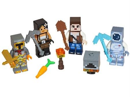 Конструктор Лего Майнкрафт фигурка с оружием (16 шт в упаковке) - фото 13933