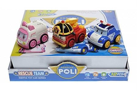 Инерционные машинки Робокар Поли (в упаковке 12 шт) - фото 14016