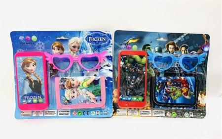 Набор; телефон, кошелек и очки, в ассортименте - фото 14023