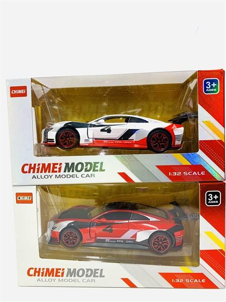 Машина металлическая спортивная 1:32, цвет в ассортименте - фото 14127