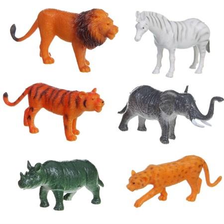 Фигурка Дикие животные,(в упаковке 12 шт) в ассортименте - фото 14136