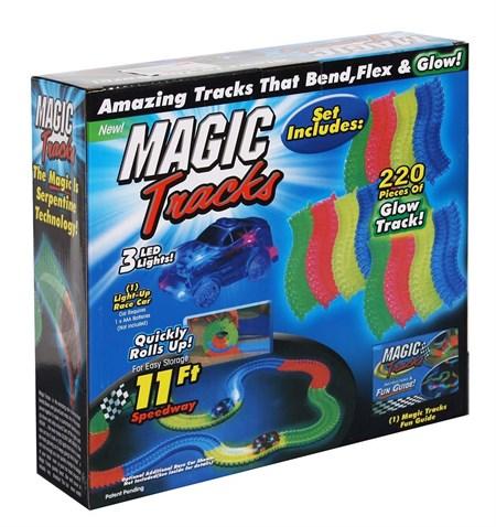 Светящийся гибкий трек Magic tracks с машинкой 220 деталей - фото 14171