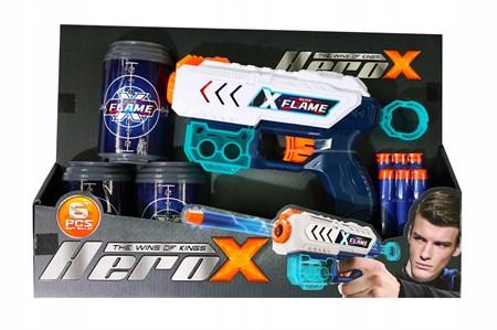 Пистолет Бластер с мягкими пулями Hero-X - фото 14181