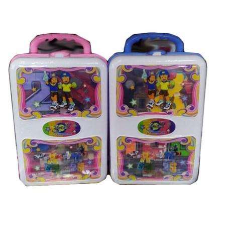 Набор Цифры трансформеры в чемодане, в ассортименте - фото 14190