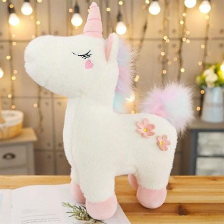 Мягкая игрушка Единорог пони спящий с цветами, цвет в ассортименте - фото 14242