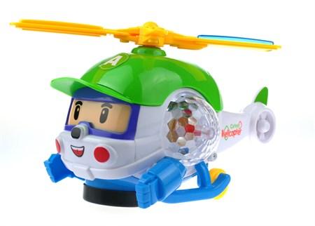 Музыкальный светящийся вертолет Хелли робокар - фото 14247