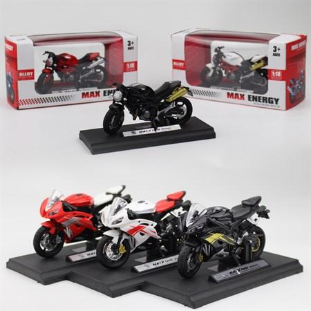 Металлический мотоцикл в коробке, цвет в ассортименте - фото 14330