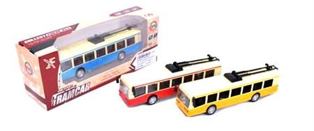 Металлический троллейбус в коробке, цвет в ассортимент - фото 14332