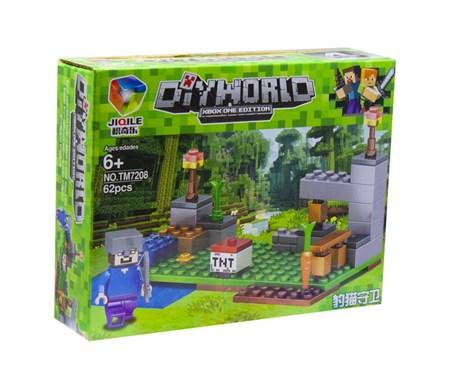 Конструктор лего майнкрафт Diy world среднее (в упаковке 8 шт.) - фото 14342