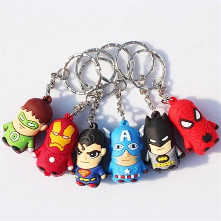 Брелок Супергерои в ассортименте  (на листе 12 шт) - фото 14404