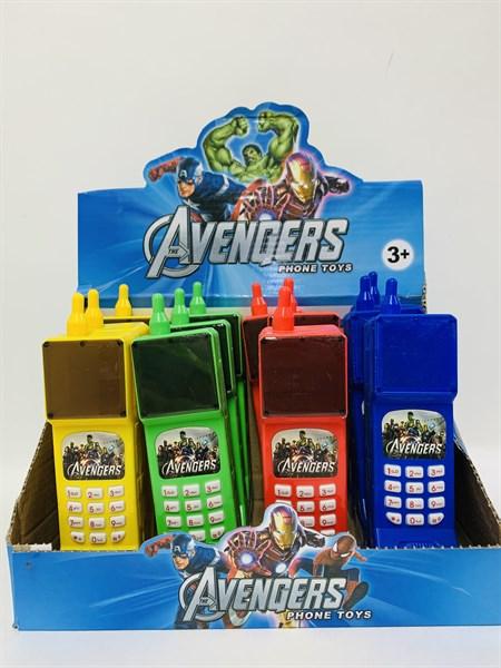 Музыкальный телефон Супергерои Avengers (в упаковке 12 шт.) - фото 14414