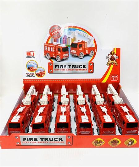 Машина пластмассовая Пожарная (в упаковке 12 шт) - фото 14415