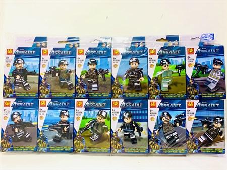 Конструктор Лего Военное герой с оружием ( в упаковке 12 шт) - фото 14420