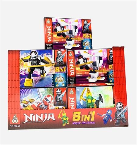 Конструктор Лего Ниндзяго  8 в 1( в упаковке 16 шт) - фото 14424