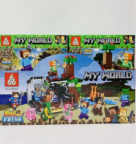 Конструктор Лего Майнкрафт My World 8 в 1( в упаковке 16 шт) - фото 14425