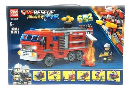 Конструктор Лего Пожарная машина 481 деталей - фото 14433
