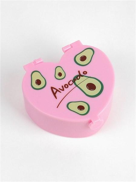 Шкатулка Авокадо с зеркалом и аксессуарами с авокадо (резинки для волос, кольцо и бусы) - фото 14442