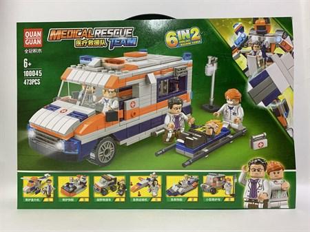 Конструктор Лего Скорая помощь 473 детали - фото 14455