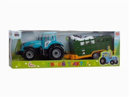 Трактор с прицепом 47 см , в ассортименте - фото 14481