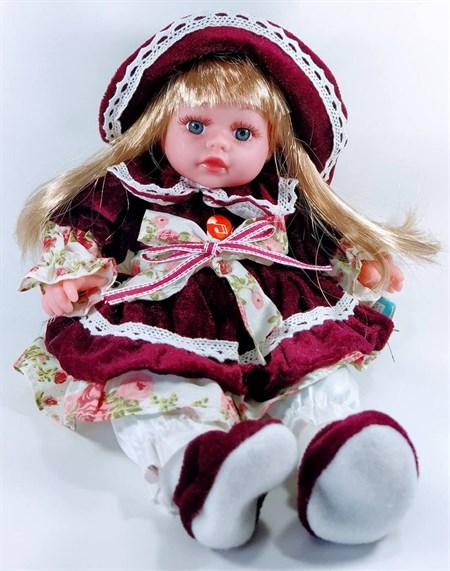 Мягкая игрушка Кукла озвученная 50 см, в ассортименте - фото 14493