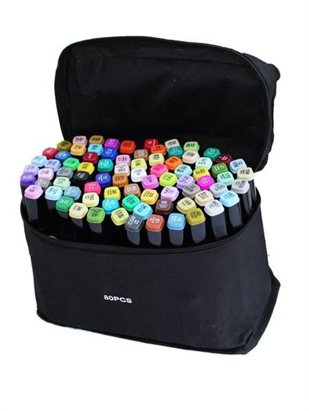 Набор маркеров для скетчинга 80 цветов - фото 14497