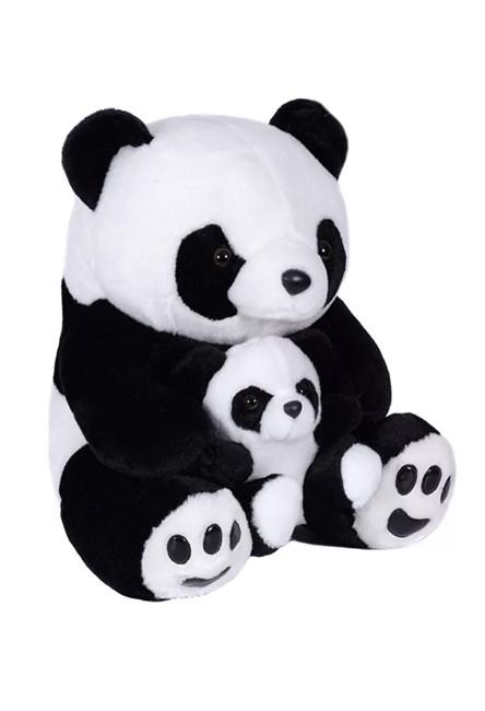 Мягкая игрушка Панда с малышом сидячая, 30 см - фото 14498