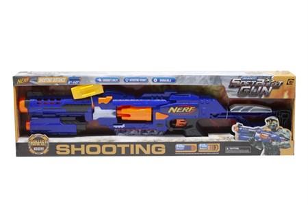 Бластер автомат Нерф с мягкими пулями , синий - фото 14550