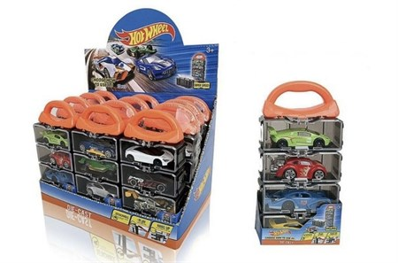 Машинки Хот Вилс Hot Wheel 4 шт в пластиковом кейсе - фото 14586