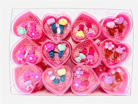 Набор детских заколок в сердце - фото 14612