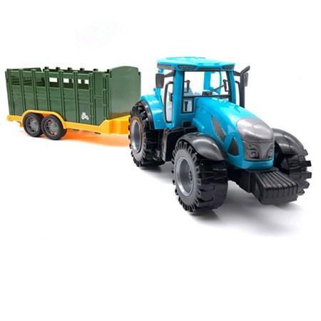 Трактор с прицепом 47 см , в ассортименте - фото 14625