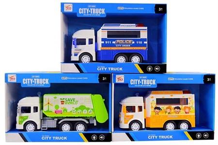 Грузовики City of Truck Спецтехника свет + звук , в ассортименте - фото 14630