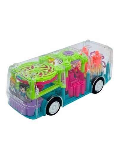 Интерактивный прозрачный и светящийся автобус с музыкальными эффектами, движущимися шестеренками - фото 14715