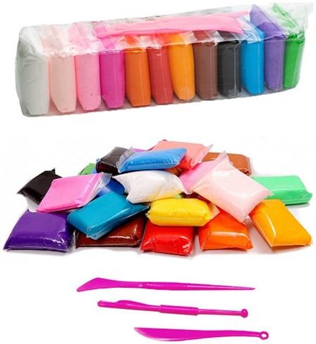 Воздушный пластилин для лепки 12 шт в упаковке - фото 14852