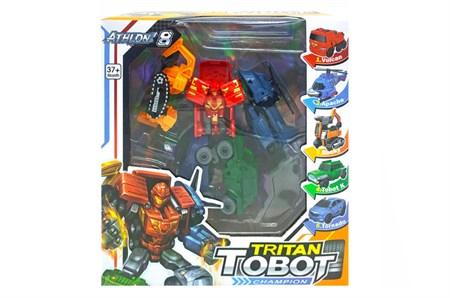 Тобот трансформер  Тритан Tritan Champion 5 машинок - фото 14863