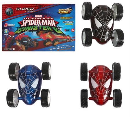 Машинка пластиковая инерционная -Перевертыш Человек паук - фото 14867