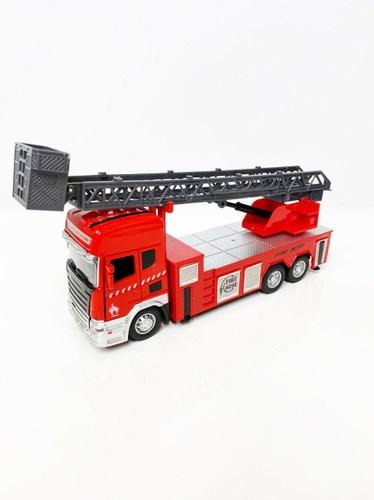 Металлическая пожарная машина, свет + звук, в ассортименте - фото 14922