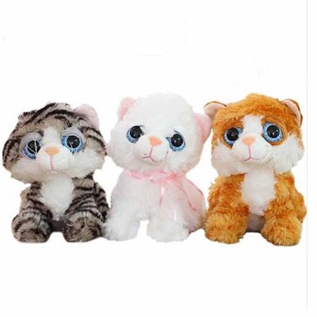 Мягкая игрушка кошка с большими глазами - фото 14984